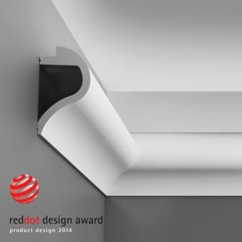 C362 Wave Red dot award list til indirekte belysning Orac Decor